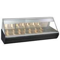 Alto-Shaam EC2-96/PR BK Black Heated Display Case with Angled Glass - Right Self Service 96 inch