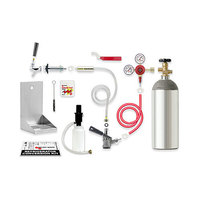 Micro Matic RCK-SG Premium Kegerator Door Mount Conversion Kit with Gas Cylinder