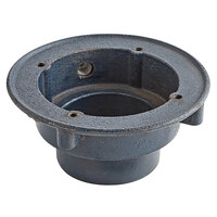 Zurn P415-4NH-P-SA Cast Iron Floor Drain Body with 4 inch No-Hub Outlet and 1/2 inch Trap Primer Connection for Z415 Series Drains, Drilled for Stabilizer Assembly