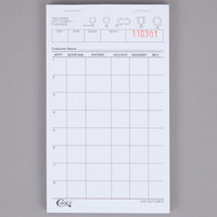 Choice 1 Part White Waiter / Waitress Order Pad - 50/Case
