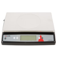 Taylor TE22OS 22 lb. Digital Portion Control Scale with an Oversized Platform