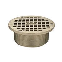 Zurn ZB400-5B 5 inch Round Type B Light-Duty Polished Bronze Floor Drain Grate for Z415 Drains