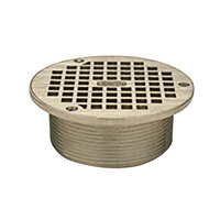 Zurn ZB400-5B 5 inch Round Type B Light-Duty Polished Bronze Floor Drain Grate for Z415 Drains