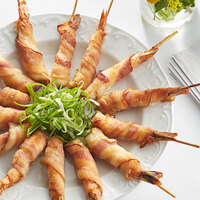 Les Chateaux de France 1.0 oz. Bacon Wrapped Shrimp on Skewer - 50/Case