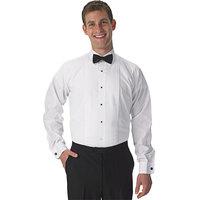 Henry Segal Men's Customizable White Tuxedo Shirt with Lay-Down Collar - L