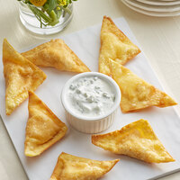 Les Chateaux de France 0.6 oz. Buffalo Chicken Wontons - 50/Case