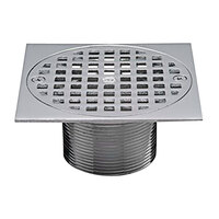 Zurn JP2254-BS5-TOP 5 inch Square Polished Brass Strainer Assembly for FD2254 Shower Drains