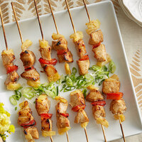 Les Chateaux de France 1.35 oz. Chicken and Pineapple Kabob Skewer - 50/Case