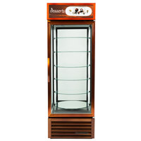 True G4SM-23-RGS-LD Bronze Four Sided Glass Door Refrigerator Merchandiser with Revolving Shelves