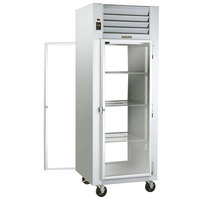 Traulsen G16012P Solid Front, Glass Back Door 1 Section Pass-Through Refrigerator - Right / Right Hinged Doors