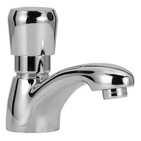 Zurn Z86100-XL-CP4 Deck Mount Single Basin Metering Faucet with 3 3/4 inch Cast Spout (1 GPM) and 6 inch Cover Plate