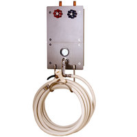 T&S MV-0771-12R Recessed Cabinet and Washdown Station with 3/4 inch Mixing Valve, 50' Hose and Water Gun