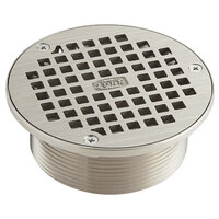Zurn Zn400 8b 8 Round Type B Polished Nickel Bronze Strainer With Heel Proof Square Openings
