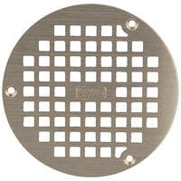 Zurn PN400-5B-STR-W/SCR 5 inch Round Type B Polished Nickel Bronze Grate with Screws for Z400 Floor Drains