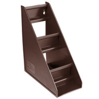 Vollrath 4830-01 Traex® Brown Self-Serve 3-Tier Condiment Holder Stand with Clips