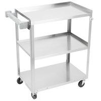 Vollrath 97120 Stainless Steel 3 Shelf Medium Duty Cart - 27 1/2 inch x 15 1/2 inch x 33 inch