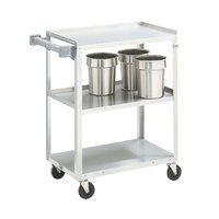 Vollrath 97120 Stainless Steel 3 Shelf Medium Duty Cart - 27 1/2 inch x 15 1/2 inch x 33 inch