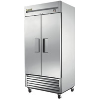 True TS-35 40 inch Stainless Steel Two Section Solid Door Reach in Refrigerator - 35 Cu. Ft.