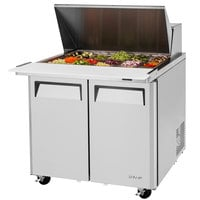 Turbo Air MST-36-15-N6 36 inch 2 Door Mega Top Refrigerated Sandwich Prep Table