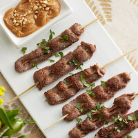 Les Chateaux de France 0.7 oz. Unmarinated Beef Satay on Skewer - 100/Case