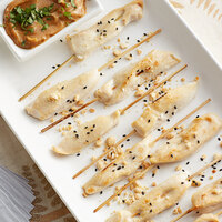 Les Chateaux de France 0.7 oz. Unmarinated Chicken Satay on Skewer - 50/Case