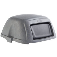 Toter STL35-00GST Graystone Square Dome Lid with Swing Door for 35 Gallon Slimline Trash Cans
