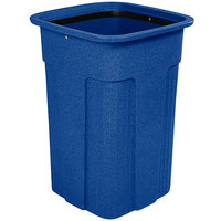 Toter SSC35-10823 Slimline Blue 35 Gallon Square Trash Can