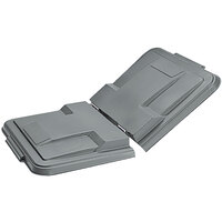 Toter LMS10-00IGY Graystone Removable Split Lid for 1 Cubic Yard Universal Mobile Waste Receptacles