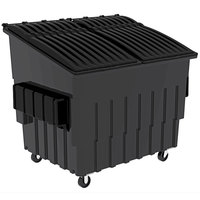 Toter FL040-10082 4 Cubic Yard Graystone Front End Loading Mobile Trash Container / Dumpster (2000 lb. Capacity)