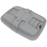 Toter LMC08-00IGY Graystone Removable Split Lid for 8 Cubic Foot Cube Trucks