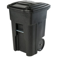 Toter ANA48-56599 48 Gallon Blackstone Rotational Molded Rollout Trash Can with Lid