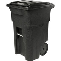Toter ANA64-10548 64 Gallon Blackstone Rotational Molded Rollout Trash Can with Lid
