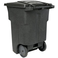 Toter ANA96-00BKS 96 Gallon Blackstone Rotational Molded Rollout Trash Can with Lid