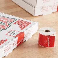 TamperSafe 2 1/2 inch x 6 inch Red Paper Tamper-Evident Label   - 250/Roll