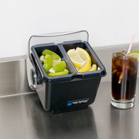 San Jamar BD2004NL The Dome Mini Dome Bar Condiment Holder with Two 1.5-Pint Trays