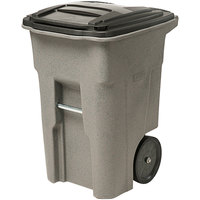 Toter ANA48-00GST 48 Gallon Graystone Rotational Molded Rollout Trash Can with Lid