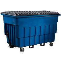 Toter FLM20-00BLU 2 Cubic Yard Blue Mobile Truck with Attached Lid (1000 lb. Capacity)