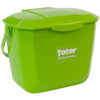 Toter 2602-SL-G100 Organics 2 Gallon Lime Green Kitchen Composting Container with Lid