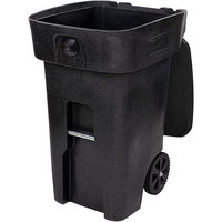 Toter 79A64-10209 64 Gallon Fully Automated Blackstone Bear Proof Rollout Trash Can with Wheels and Locking Lid