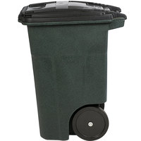 Toter ANA48-51406 48 Gallon Greenstone Rotational Molded Rollout Trash Can with Lid