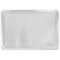 Vollrath 9002P Wear-Ever Perforated Full Size 18 Gauge Aluminum Bun / Sheet Pan - Wire in Rim, 18 inch x 26 inch