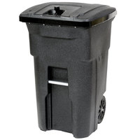 Toter 79A96-10209 96 Gallon Blackstone Bear Proof Rollout Trash Can with Wheels and Locking Lid