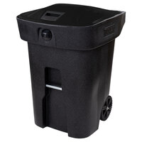 Toter 79A96-10209 96 Gallon Fully Automated Blackstone Bear Proof Rollout Trash Can with Wheels and Locking Lid