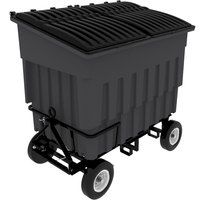 Toter FLA30-00IGY 3 Cubic Yard Graystone Rapid Speed Mobile Trash Container / Dumpster with Attached Lid (1500 lb. Capacity)
