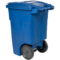 Toter ANA48-00BLU 48 Gallon Blue Rotational Molded Rollout Trash Can with Lid