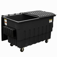 Toter FL020-10756 2 Cubic Yard Blackstone Front End Loading Mobile Trash Container / Dumpster (1000 lb. Capacity)