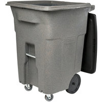Toter ACC96-54689 96 Gallon Gray Rotational Molded Rollout Trash Can with Casters and Lid