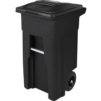Toter ANA32-10767 32 Gallon Blackstone Rotational Molded Rollout Trash Can with Lid
