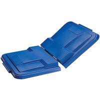 Toter LMS10-00BLU Blue Removable Split Lid for 1 Cubic Yard Universal Mobile Waste Receptacles