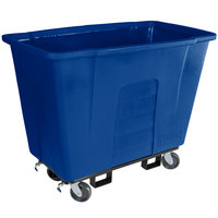 Toter AM110-00BLU 1 Cubic Yard Blue Universal Mobile Waste Receptacle (1000 lb. Capacity)